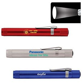 Promotional Pen Size Focus Lens Led Clip Flashlight