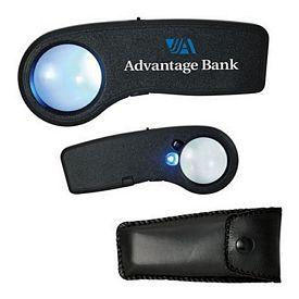 Customized Mini 8X Uv-Illuminated Magnifier