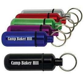 Promotional Keyring Aluminum Id Holder