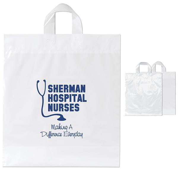 moose 16x18x6 soft loop plastic shopper bag - Custom Plastic Bags