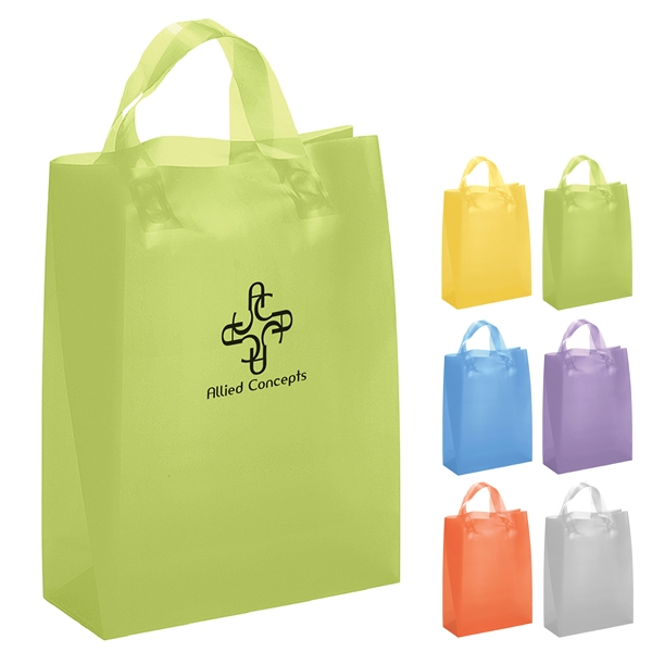 Promotional lily frosted brite shopper gift bag s
