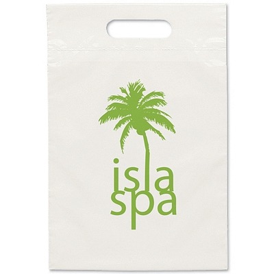 Promotional 9.5x14 Eco Recycled Die Cut Shopping Bag