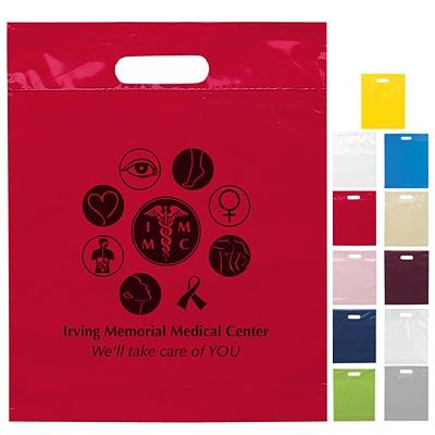 Promotional 12x15x3 Die Cut Handle Shopping Bag