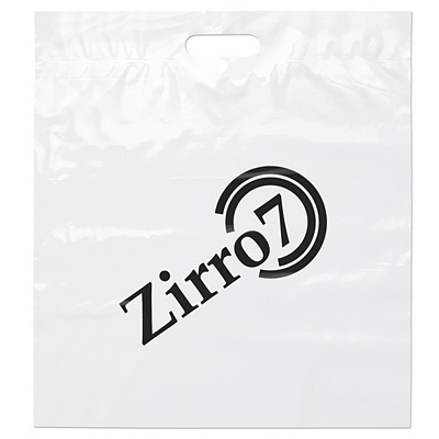 Promotional 18x20x4 White Die Cut Handle Shopping Bag