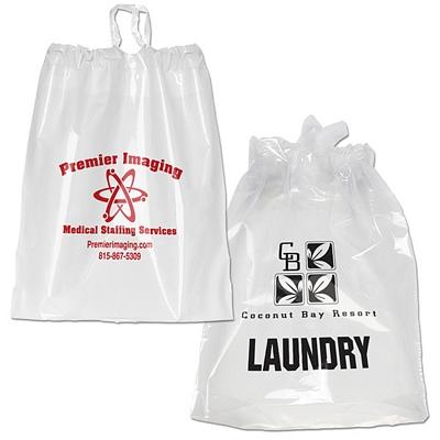 Customized 9.5x12 Poly Chord Plastic Drawstring Bag