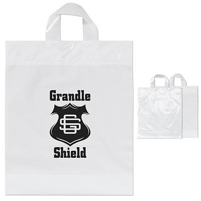 Customized Pony 13x15x4 Soft Loop Plastic Shopper Bag