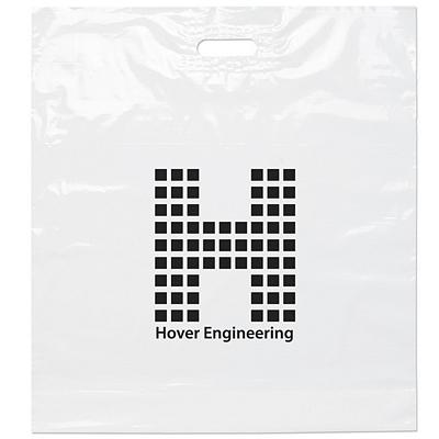 Promotional 22x24x5 White Die Cut Handle Shopping Bag