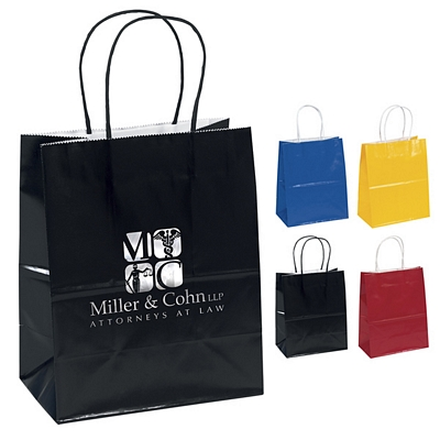 Customized 7x9 Amanda Color Gloss Paper Shopping Bag