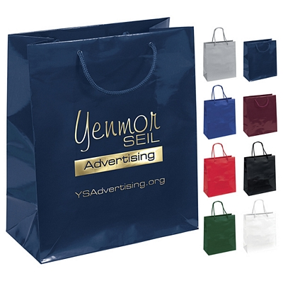 Promotional 10x12 Emerald Gloss Eurotote Shopper Paper Bag