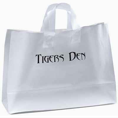 Promotional Daisy 16x12x6 Frosted Shopper Gift Bag