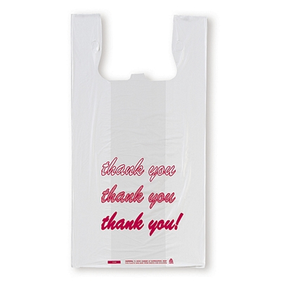 Promotional thank you printed t shirt shopping bags for Personalized t shirt bags