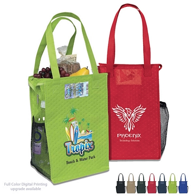 Promotional Therm-O Super Snack Wine Tote Bag