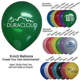 Promotional 9 Inch Latex Balloons Biodegradable