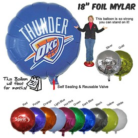 Customized 18 Inch Round Mylar Foil Balloons