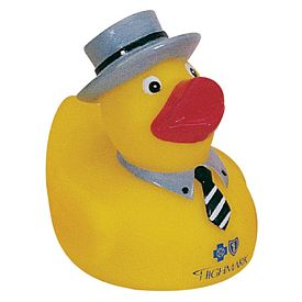 Promotional Banker Salesman Rubber Duck