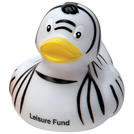 Customized Zebra Rubber Duck