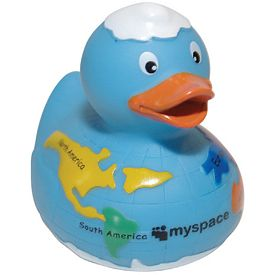 Promotional Globe Rubber Duck