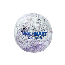 Custom 16 Red White Blue Glitter Clear Ball