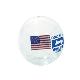 Customized 16 American Flag Insert Clear Ball