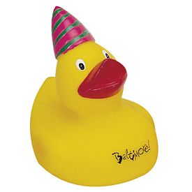 Custom Party-On Rubber Duck