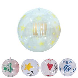 Customized 16 Clear Novelty Design Beachball