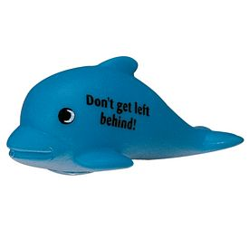 Promotional Blue Dolphin Rubber Toy