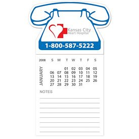 Promotional Bic Telephone Magnet With 12 Sheet Calendar Notepad