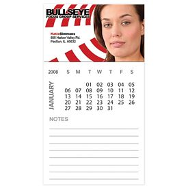 Promotional Bic Business Card Magnet With 12 Sheet Calendar Notepad
