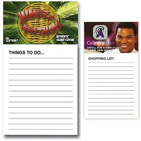 Customized Bic Business Card Magnet With 50 Page Notepad
