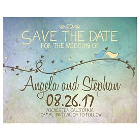 Custom Bic Save The Date Spring Wedding Announcement Magnet