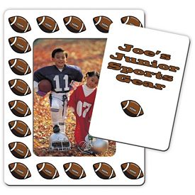 Customized Bic Football Picture Frame Magnet