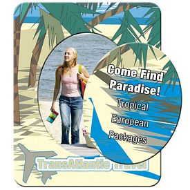 Promotional Bic Tropical Beach Picture Frame Magnet
