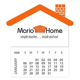 Promotional Bic House Magnet With 12 Sheet Calendar