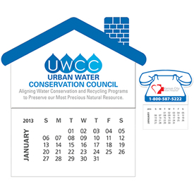 Customized Bic Business Card Magnet With 12 Sheet Calendar