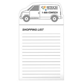 Promotional Bic Work Van Magnet With Notepad