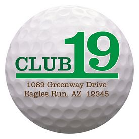 Promotional Bic 2-Inch Golf Ball Magnet
