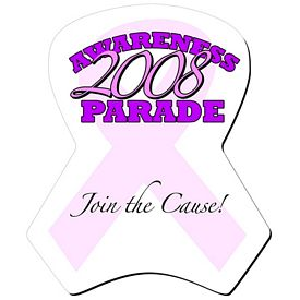 Promotional Bic Breast Cancer Pink Ribbon Die-Cut Mouse Pad