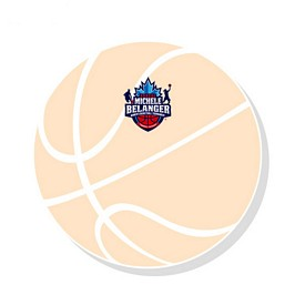 Customized Bic 3X3 Basket Ball Die-Cut Sticky Notes