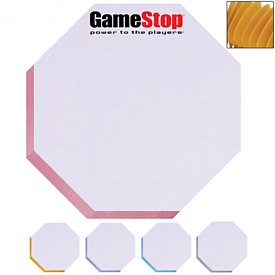 Promotional Bic 3X3 Octagon Adhesive Spring Die-Cut Sticky Note