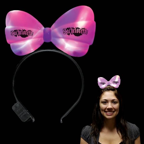 Promotional Light Up Led Bow Headband Customized Light