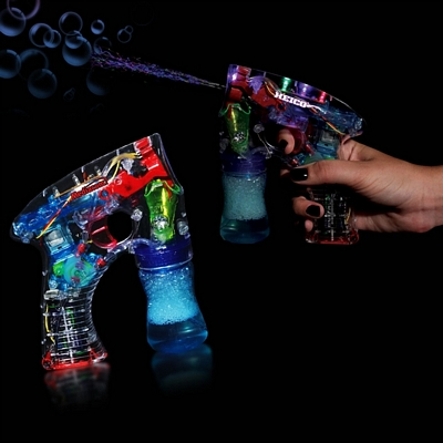 Promotional 5-1/2'' Automatic ''Lighted'' Bubble Gun