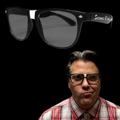 Promotional Black Frame Nerd Glasses