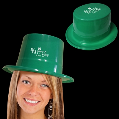 Promotional Green Plastic Top Hats