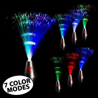 Promotional 13-1/2'' Light-Up Fiber Optic Center Piece