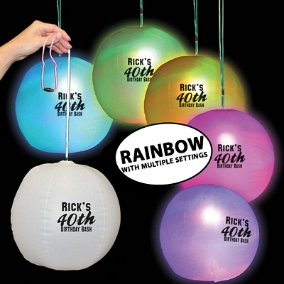 "Promotional 12"" Light-Up LED Beach Ball Decoration"