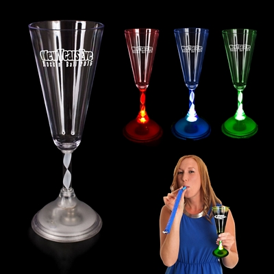 Promotional 7-1/2 oz Light-Up Champagne Glass