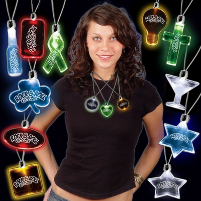 Promotional 24'' Light-Up Pendant Necklaces