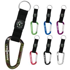 Customized Aluminum Carabiner With Compass