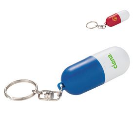 Promotional Portable Twist Pill Case Keychain