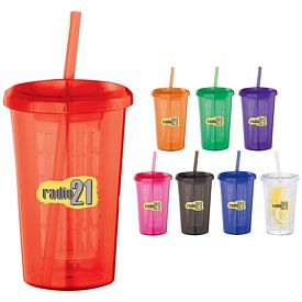 Promotional Tutti Frutti 20 Oz Tumbler With Straw